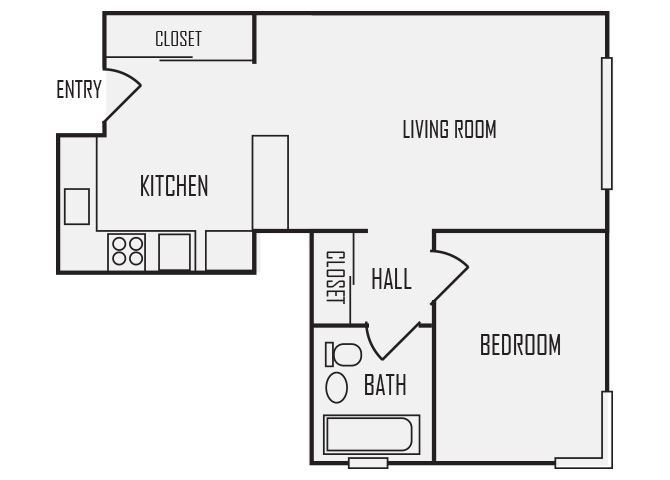 A9 floor plan for The KC High Line Apartments in Kansas City, MO