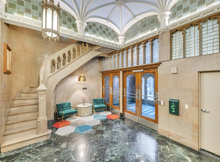 The Kirby = Lobby with historic details