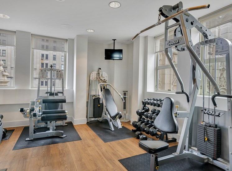The Kirby - Sky fitness center with city views