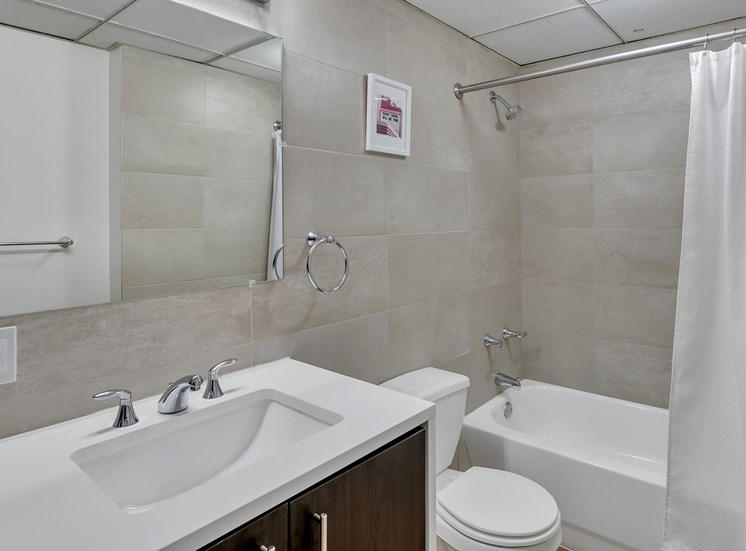The Kirby - Renovated bathrooms in select units