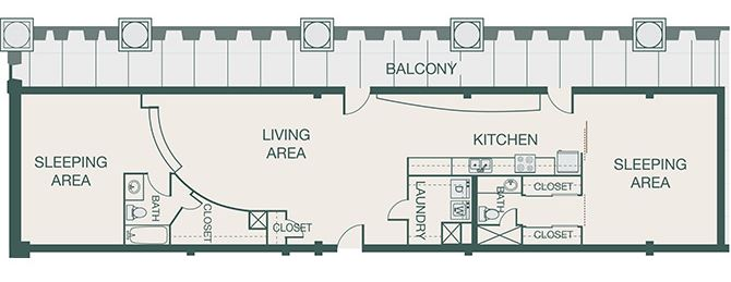 The Kirby - B4 - Penthouse 9 - 2 bedrooms - 1.5 bathrooms