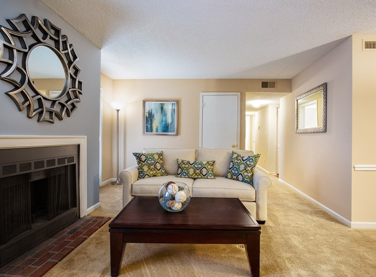 Littlestone of Village Green Apartments - Wood-burning fireplaces in select units