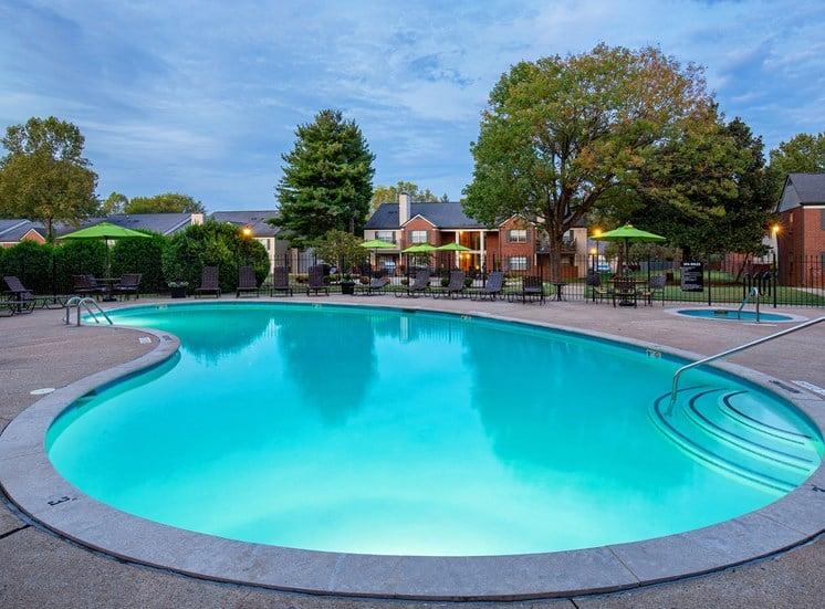 Littlestone of Village Green Apartments - Lighted pool