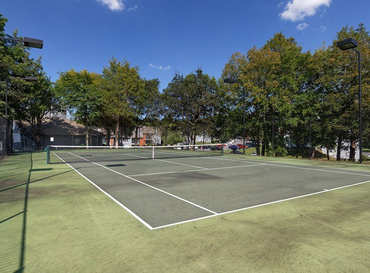Arbor Hills Apartments lighted tennis court