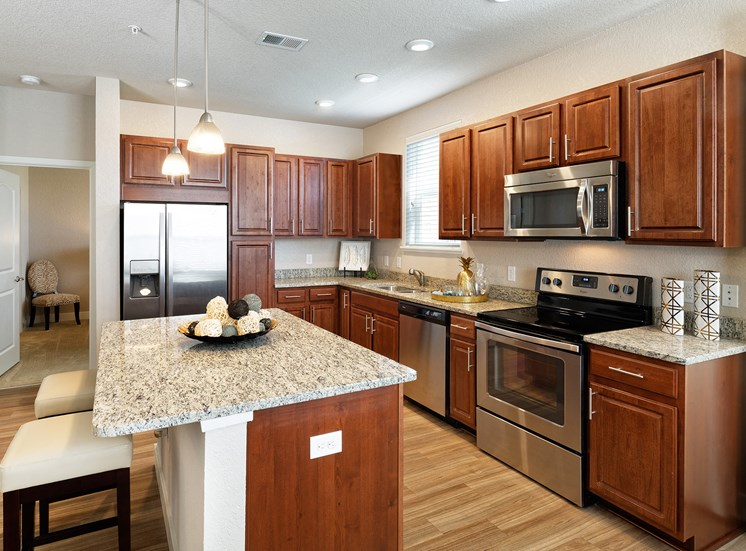 The Haven at Shoal Creek spacious kitchens with granite countertops