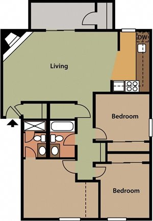 Deer   somersetWest Valley City, UT Enclave at Redwood apartments 2 bedroom 1 bath
