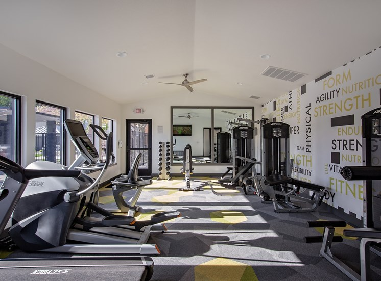 West Valley City, UT Enclave at Redwood apartments fitness center
