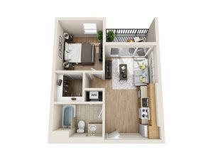 Unit A1 - 1 Bedroom/1 Bath