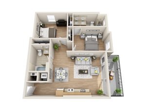 Unit G2 - 2 Bedroom/2 Bath
