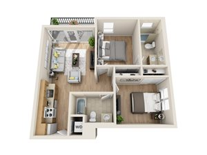 Unit H - 2 Bedroom/2 Bath