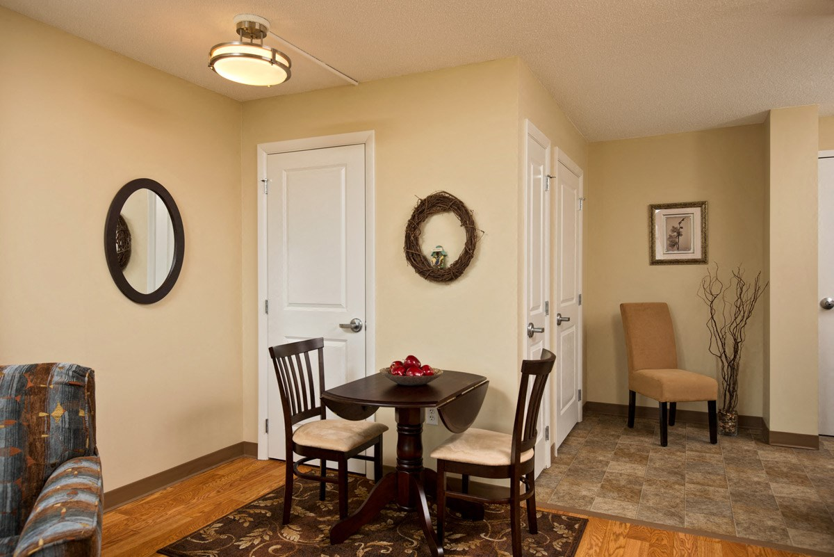 Apartment dining room at Ohav Sholom Apartments in Albany, NY