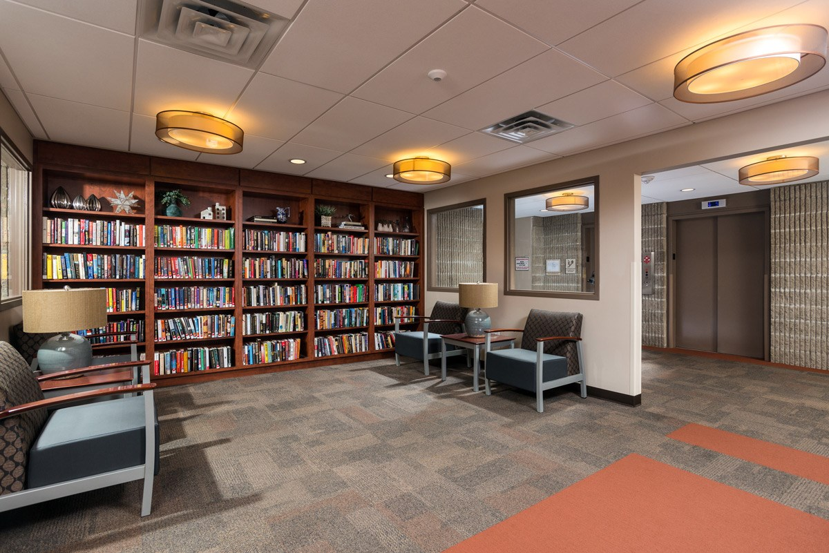 Library at Ohav Sholom Apartments in Albany, NY