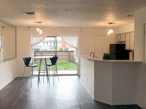 Dining Area *Yards Available in Select Units*