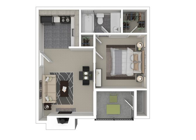 Reading 1 Bedroom 1 Bathroom Apartment