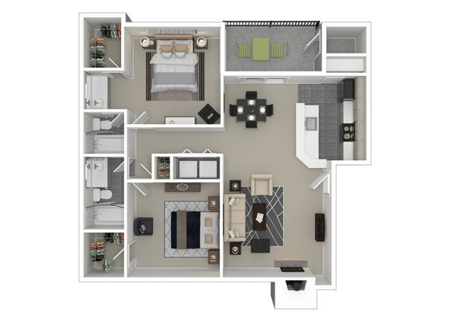 Shortline 2 Bedroom 2 Bath Apartment