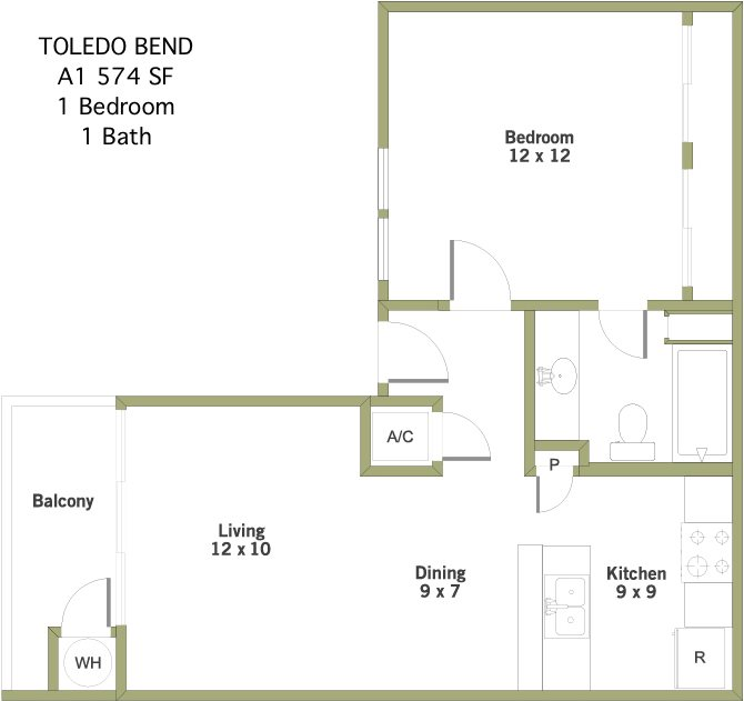 Toledo Bend 1 Bedroom 1 Bathroom Apartment