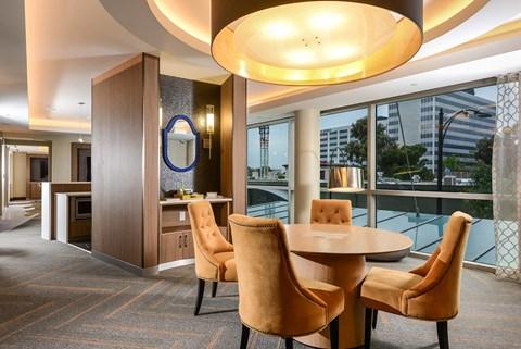 Clubroom dining area