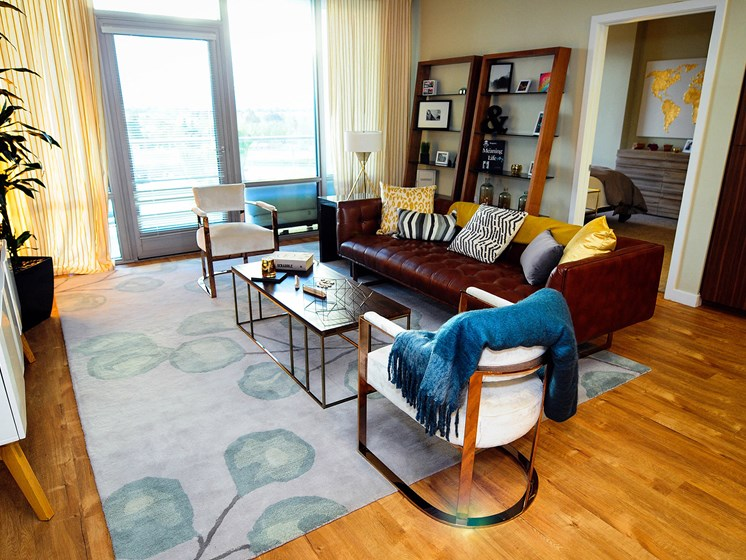 Apartments in Downtown San Jose California - Centerra Living Room