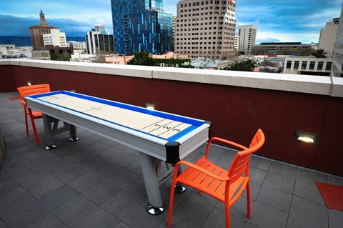 Game area on rooftop