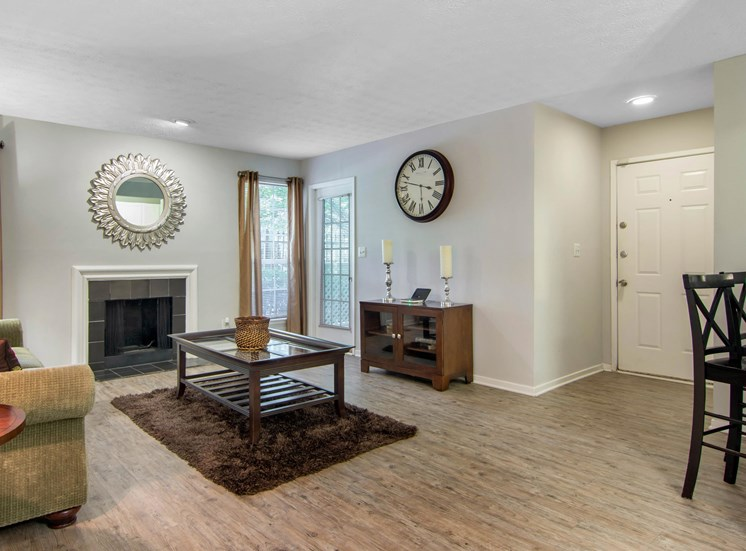 Dunwoody Village Living Room with Fireplace