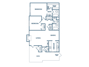 Dunwoody Village B2 Gardenia 2 Bedroom 2 Bathroom