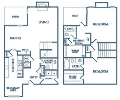 Dunwoody Village B5TH Juniper Townhome 2 Bedroom 2 Bath