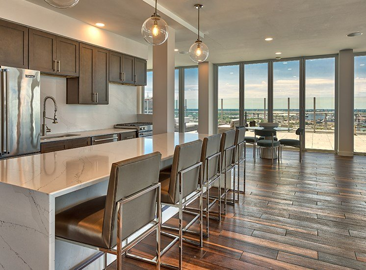 Resident Clubroom Kitchen at Icon