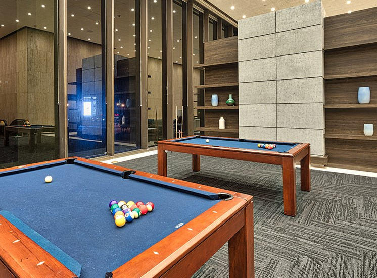 Billiards at Icon Norfolk Apartments
