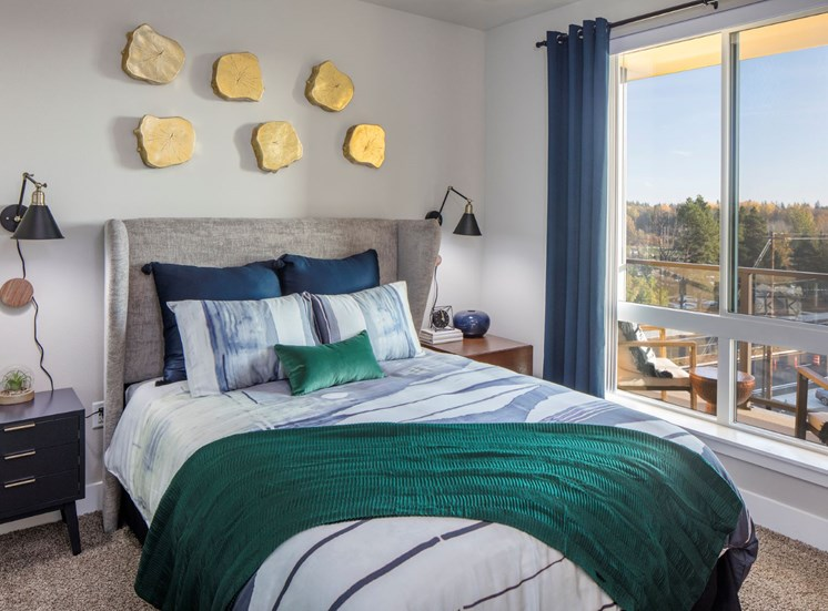Bedrooms at Baseline 158 in Beaverton, OR offer huge windows with expansive views.