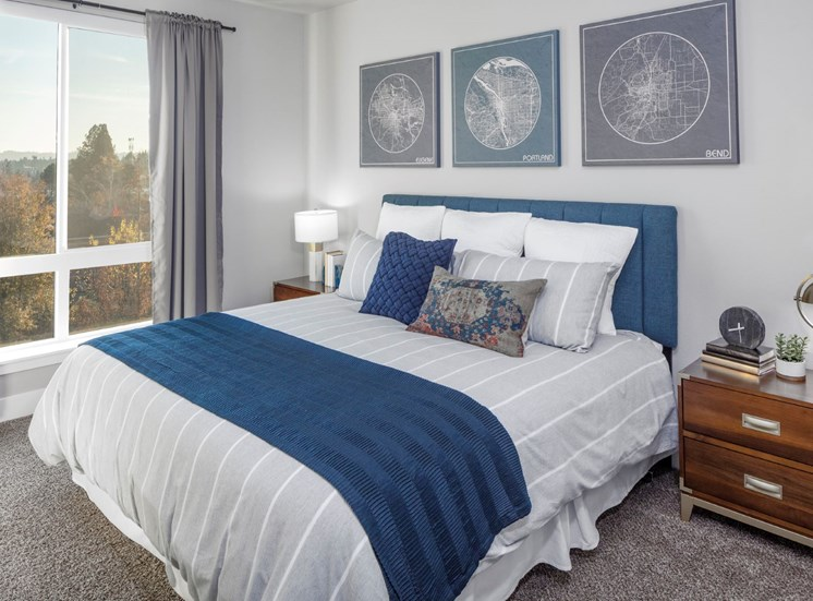 Huge bedrooms with gorgeous views at Baseline 159 in Beaverton, OR