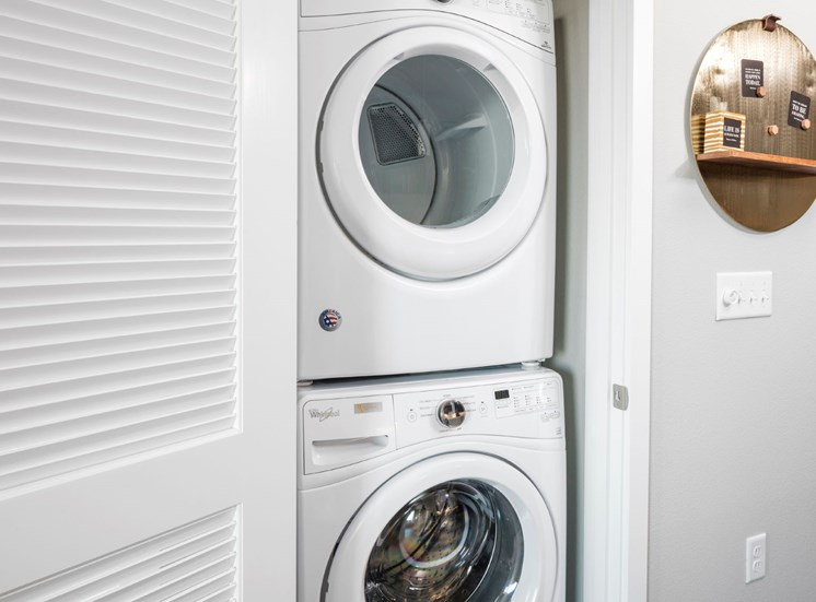 Full-size washers and dryers allow you to do your laundry in the comfort of your own home at Baseline 158 in Beaverton, Oregon