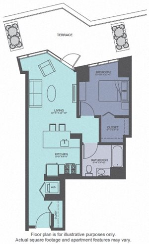 Floor Plan at Moment, Chicago