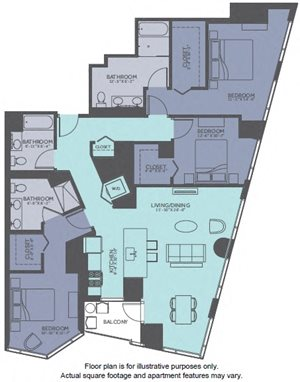Floor Plan at Moment, Chicago, IL
