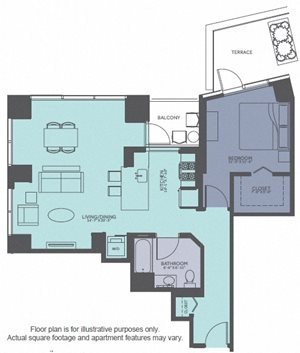 Floor Plan at Moment, Chicago, IL 60611