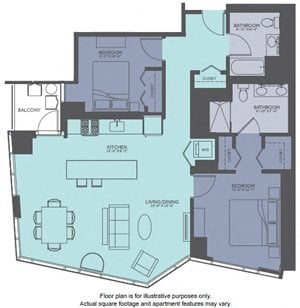 Floor Plan at Moment, Chicago, 60611