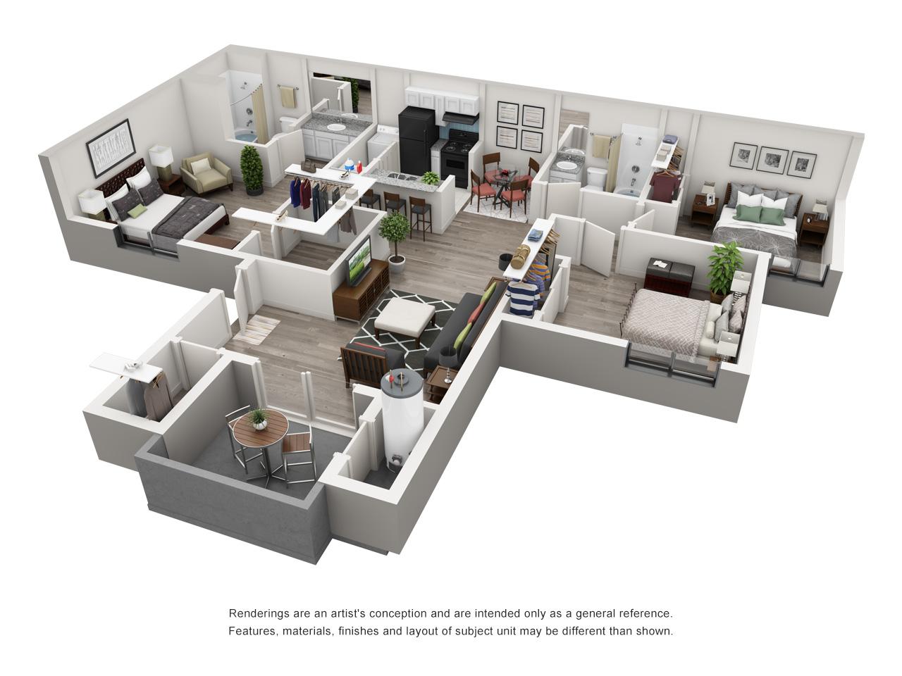 Spacious 3 bedroom apartment at palm canyon apartment homes at palm canyon tucson