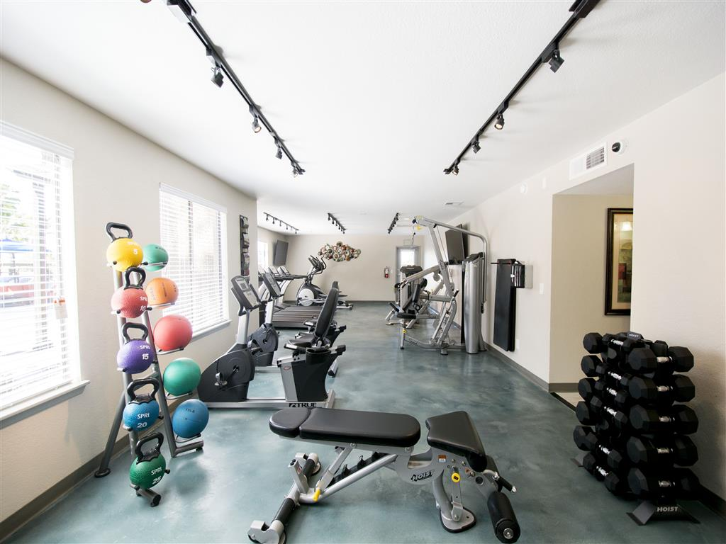 Free weights and weight and cardio machines at our state of the art fitness center at Palm Canyon, Arizona