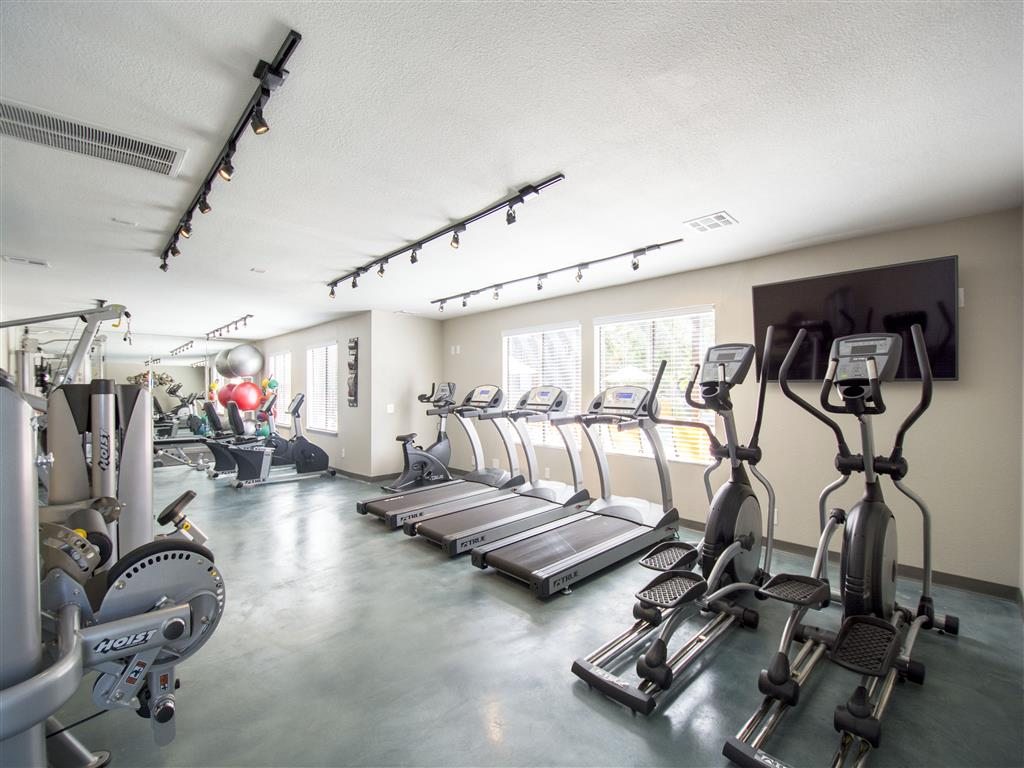 Cardio machines galore at Palm Canyon's community fitness center at Palm Canyon, Tucson,Arizona