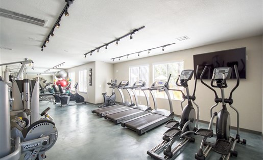 Cardio machines galore at Palm Canyon's community fitness center at Palm Canyon, Tucson,Arizona