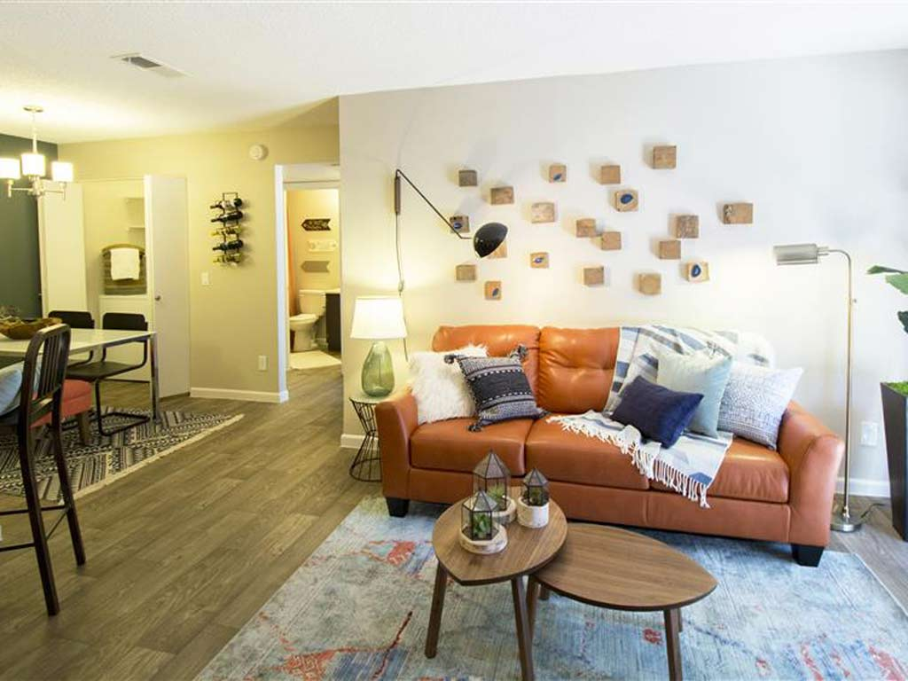 Model living room at Palm Canyon with Southwest themed decor at Palm Canyon, Arizona, 85741