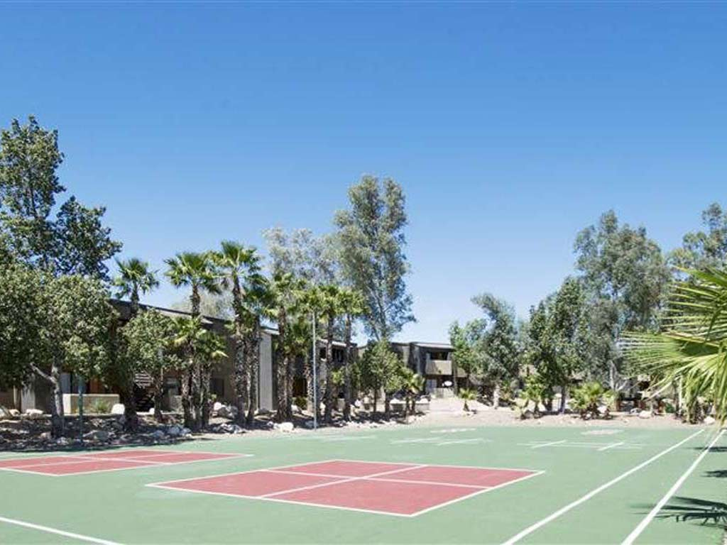 Outdoor fitness sports court with handball court and more at Palm Canyon, Arizona