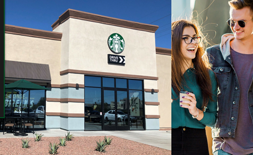 Starbucks Flyer with location at Palm Canyon, Tucson