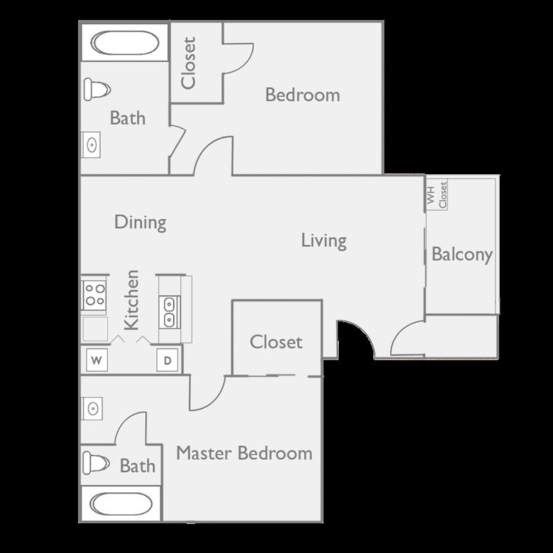 Spacious 2 Bedroom Apartment at Palm Canyon Apartment Homes at Palm Canyon, Tucson,Arizona
