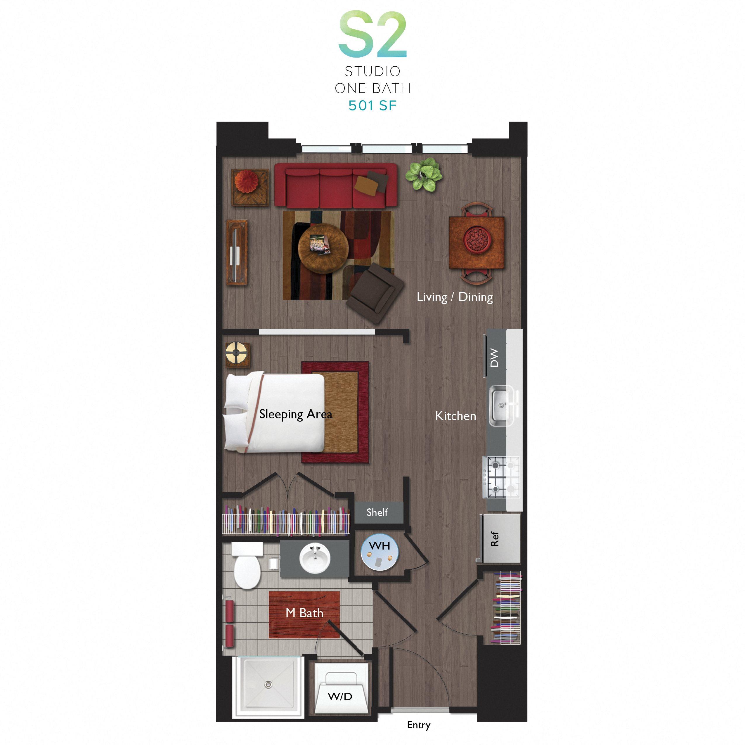 Studio (S02) Floor Plan 13