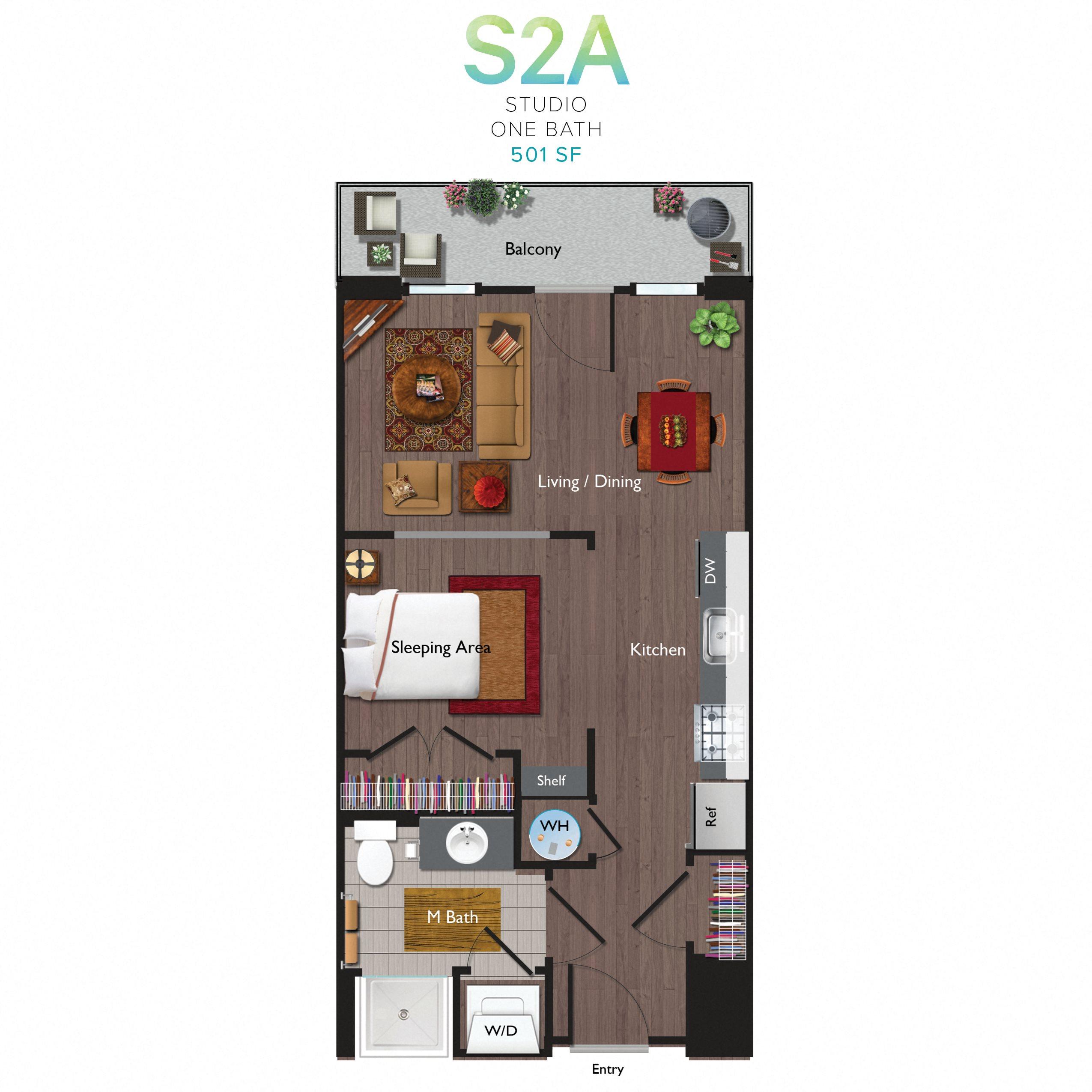 Studio (S02A) Floor Plan 11