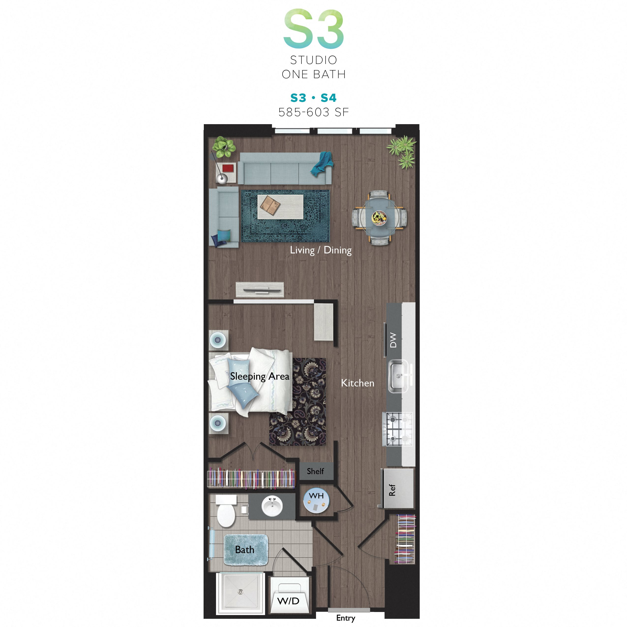 Studio (S04) Floor Plan 10