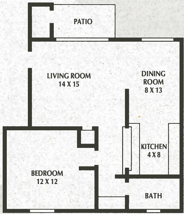 SS - 1 Bed, 1 Bath - 716sqft
