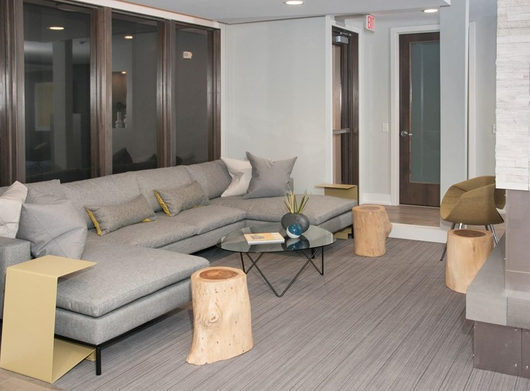 Custom Designed Resident Lounge at The Finn Apartments, St. Paul, 55116