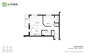 Floor plan at The Finn Apartments, St. Paul, Minnesota