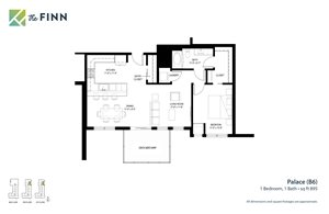 Floor plan at The Finn Apartments, St. Paul